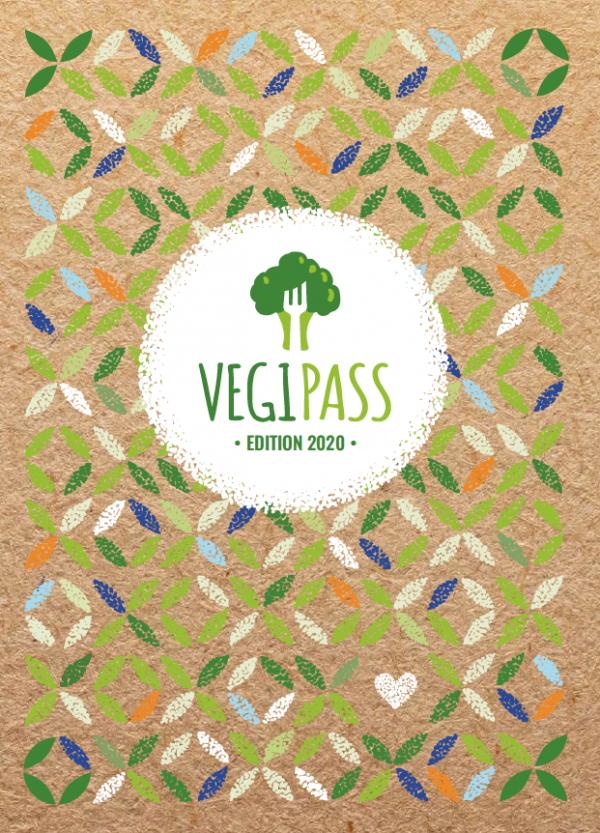 Couverture du guide végétarien et vegan le VegiPass 2020